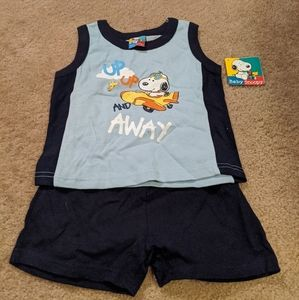 Snoopy short set. NWT. 24 months